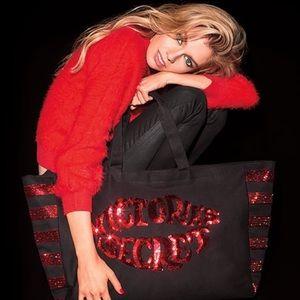 Black & Red Sequin Tote Bag